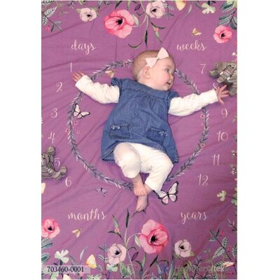 Panel Babyshooting Photo Blanket Baby Flora Flowers old pink