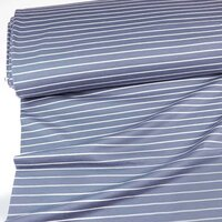 Jersey organic stripes grey-white
