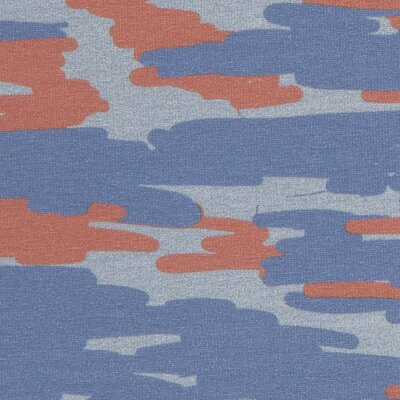 French Terry Swafing Tinted Camouflage terracotta-blue by Cherry Picking