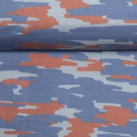 French Terry Swafing Tinted Camouflage terracotta-blue by...