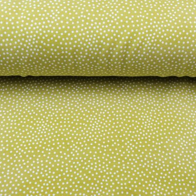 Sommersweat Tiny Dots lime
