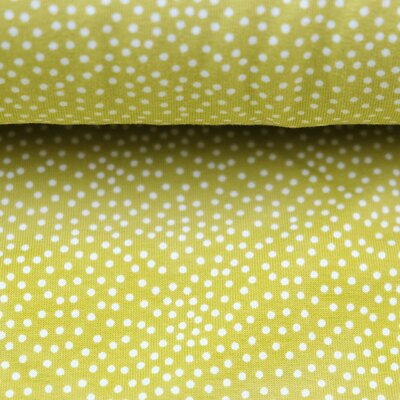 French Terry, Sweat Stoff, Sommersweat, Tiny Dots lime