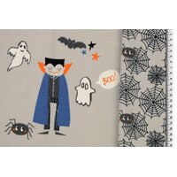 Jersey Halloween Vampire and ghosts beige Panel
