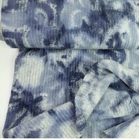 Knitted fabric batik blue