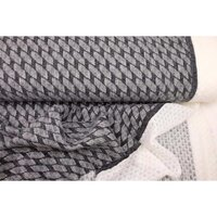 Knitted fabric Doubleface anthracite