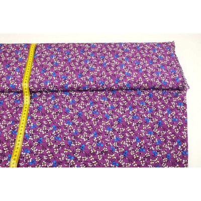 Viscose fabric flowers purple