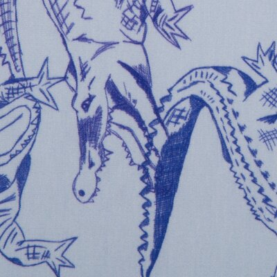 Jersey Swafing Crocodiles  by Cherry Picking blue-white