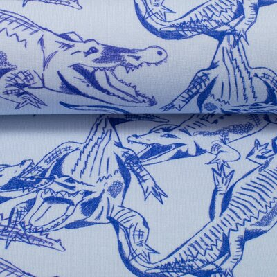 Jersey Swafing Crocodiles  by Cherry Picking blau