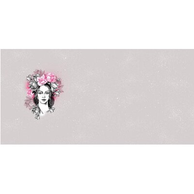 Panel French Terry, Sweat, Swafing Ms. Magnolia Tattoo by Thorsten Berger Panel pink