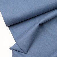 Organic Trouser fabric woven bamboo plain blue