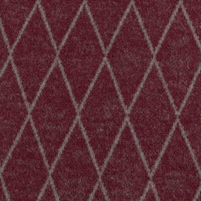Jacquard Jersey Stoff Rauten, Swafing Cozy Collection bordeaux by lycklig design