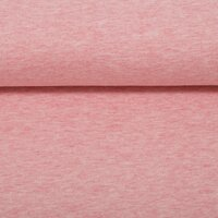 French Terry, Sweat fabric Swafing Maike pink mottled