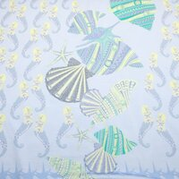 Stoff Panel Viscose Jersey Seahorse and Shell maritime