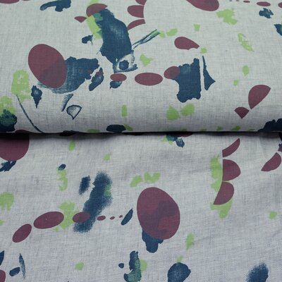 Linen Fine Linen Premium Quality grey patterned
