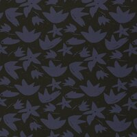 French Terry, Swafing by brinarina, flowers dark blue