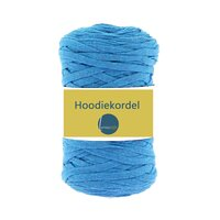hoodie cord flat cord cotton blue mottled