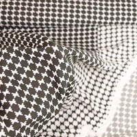 Viscose fabric graphic retro brown-white